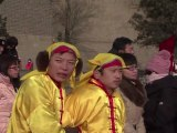 Des courageux bravent le froid pour monter sur la Grande muraille de Chine