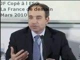 J.F Copé à l'ESG Management School.