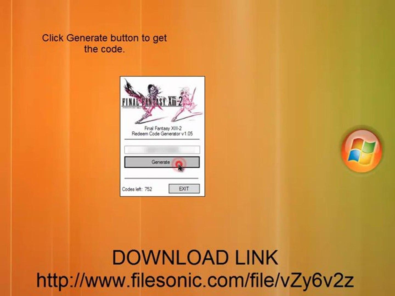 Final Fantasy XIII-2 Redeem Code Generator Download PS3