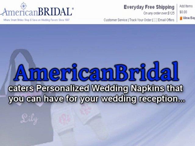 Colorful Personalized Wedding Napkins