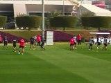 Football: au Qatar, premiers entrainements du PSG avec Ancelotti