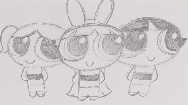 How To Sketch Powerpuff Girls
