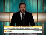 "Ricky Gervais on ""Today"" with Matt Lauer"