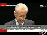 Mario Monti: Italia è cresciuta insieme all'Europa - VideoDoc. Il presidente del Consiglio celebra il Tricolore a Reggio Emilia