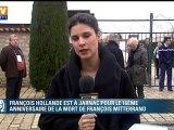 Hollande à Jarnac pour rendre hommage à Mitterrand