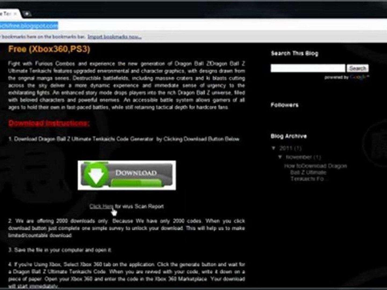 dragon ball z ultimate tenkaichi registration code free