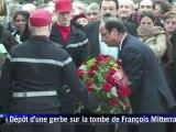 François Hollande sur les traces de François Mitterrand à Jarnac