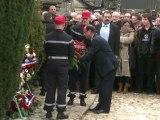 François Hollande à Jarnac  pour la commémoration de la mort de François Mitterrand