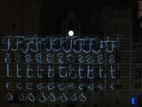 Architectural video projection - Narbonne (France) - Season's Greeting 2011 - part 3/4