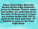 Boston Bruins Zdeno Chara Alternate Reebok Edge Authentic Jersey