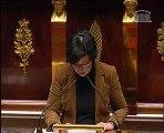 """Véronique Besse à la tribune de l'Assemblée nationale intervient au sujet du projet de """"Commémoration de tous les morts""""."""