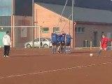 Coup-franc ( match amical en interne : séniors B contre séniors C )