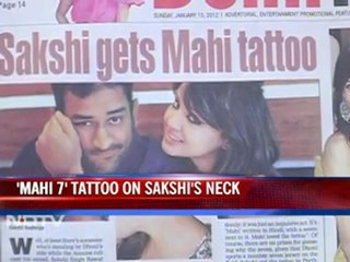 Sakshi gets Dhoni's name tattooed