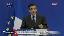 Discours de François Fillon et de François Hollande sur la perte du triple A - 14 Janvier 2012