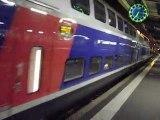 Départ de la rame TGV 2N2 Euroduplex 4707, sur le TGV 6127 à destination de Marseille Saint-Charles