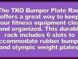 TKO Rubber Bumper Plate Rack
