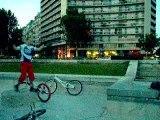 Saut de lapin sans le vélo