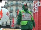 """La CGT manifeste contre le """"sommet anti-social"""""""