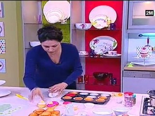 chhiwat choumicha Cupcake à La Crème, Bonbons Et Fondant