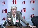 France-Paris - Marine Le Pen - Candidate à l'élection présidentielle de 2012, présidente du Front national (FN)