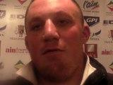 Rugby Pro D2 - Marc Clerc réagit après USO - Tarbes