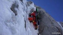 Face Nord des Courtes voie des Suisses massif du Mont-Blanc