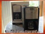 Capresso CoffeeTeam 10-Cup Digital Coffeemaker with Conical Burr Grinder