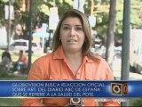 Globovisión buscó reacciones sobre artículo de ABC  de salud de Chávez