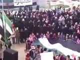 فري برس   ادلب خان شيخون حرائر خان شيخون تهتف بقوة وتطالب بإعدام بشار الأسد 23 1 2012