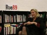 Marine Le Pen face aux riverains (25/01/2012) - Interdiction des manifestations de soutien aux sans-papiers