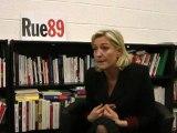 Marine Le Pen face aux riverains (25/01/2012) - Le revenu parental