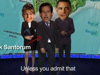 All Star Weather Trio  Sarah Palin Barack Obama Rick Santorum