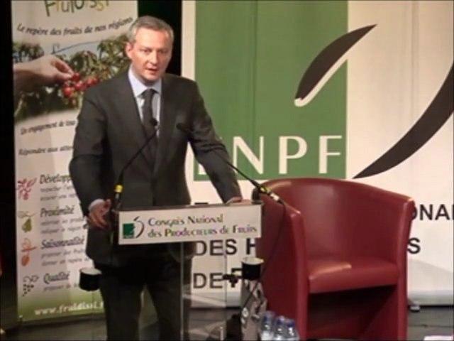 Discours de Bruno LE MAIRE lors du 66° congrès de la Fédération Nationale des Producteurs de Fruits - Part 1