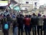 فري برس   درعا المخيم مظاهرة لأبناء الجولان السوري المحتل  27 1 2012