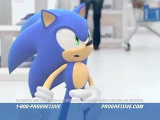 Progressive Ad Featuring Sonic the Hedgehog de