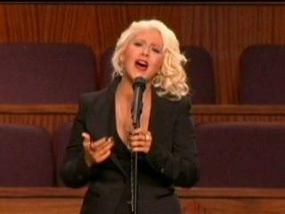 Christina Aguilera sings at Etta James' funeral