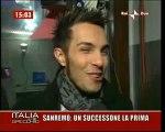 Marco Carta a Sanremo intervistato da Raidue