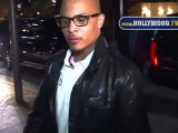 """T.I. and Tameka """"Tiny"""" Cottle dine with their family"""