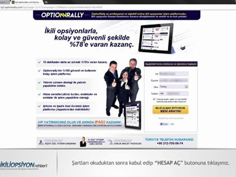 Option rally hesabı nasıl açılır message removed