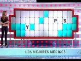 Paloma Lopez enseñando ombligo en La Ruleta de la Suerte 31-1-2012
