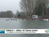 FINALE 1 (200m) K1 DAME JUNIOR - REGATE INTERNATIONALE DU PAS-DE-CALAIS 2012
