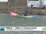 FINALE 1 (200m) C1 HOMME CADET - REGATE INTERNATIONALE DU PAS-DE-CALAIS 2012