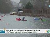 FINALE 1 (200m) K1 DAME VETERAN - REGATE INTERNATIONALE DU PAS-DE-CALAIS 2012