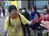 Japanese basketball fan dribbles from Tokyo to Sendai