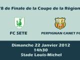FC SETE 4-1 PERPIGNAN CANET FC (Coupe de la Région - 1/8 de Finale)
