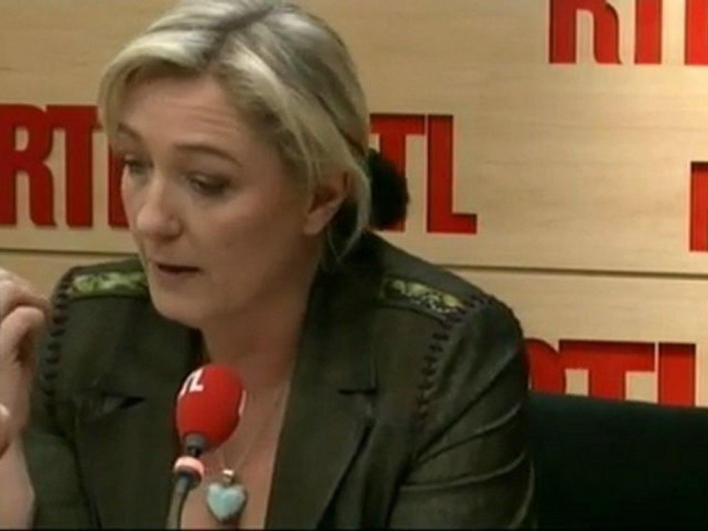 Marine Le Pen, candidate du Front national à la Présidentielle, répondait aux questions des auditeur