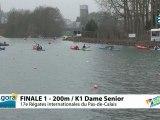 FINALE 1 (200m) K1 DAME SENIOR - REGATE INTERNATIONALE DU PAS-DE-CALAIS 2012