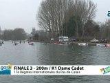 FINALE 3 (200m) K1 DAME CADET - REGATE INTERNATIONALE DU PAS-DE-CALAIS 2012