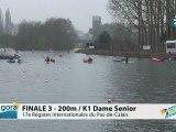 FINALE 3 (200m) K1 DAME SENIOR - REGATE INTERNATIONALE DU PAS-DE-CALAIS 2012