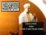Cuma Vaaz'ı Yeraltı Camii İmam Hatibi / Hafız , Ümit AYDIN